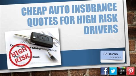 auto insurance quotes for drivers how can i get car insurance as a high risk driver at low cost