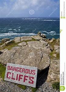 Dangerous Cliffs At Land's End In Cornwall Stock Photos ...