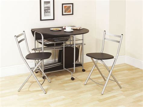 Folding Dining Set Black Dining Table And Four Chairs