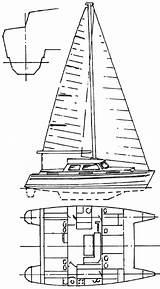 Catamaran Hull Plans Coloring Cat Hulls Template Catamarans sketch template