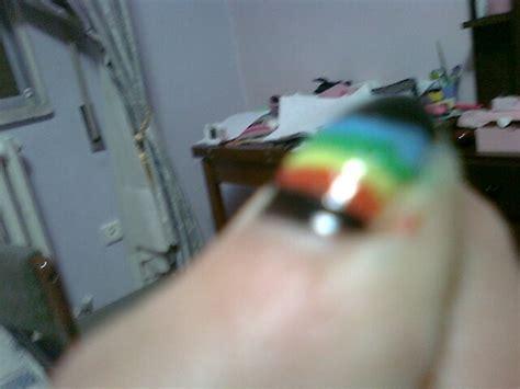 cool nail art   paint  stripy