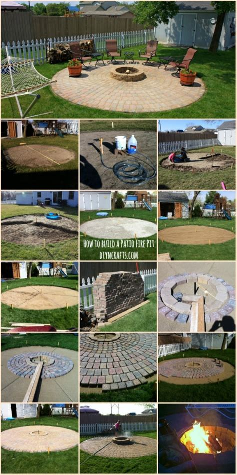 ingenious outdoor project how to build a patio pit