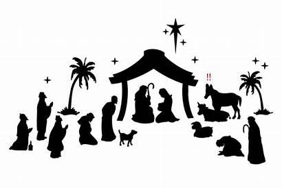 Nativity Transparent Donkey Joseph Medium Clip Background