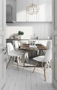 Table Cuisine Scandinave : d co cuisine blanche scandinave de r ve ~ Teatrodelosmanantiales.com Idées de Décoration
