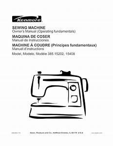 Kenmore Sewing Machine User Manual