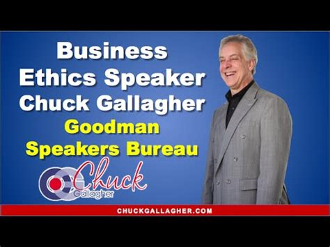 business speakers bureau business ethics speaker chuck gallagher goodman