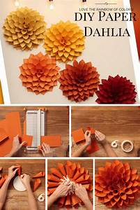 diy paper dahlia the oversized paper version of the