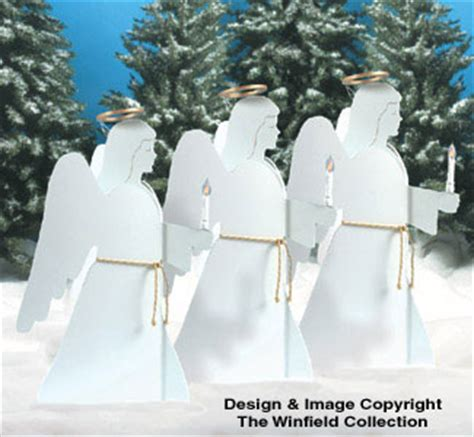 nativities angels candlelight angels woodcraft pattern
