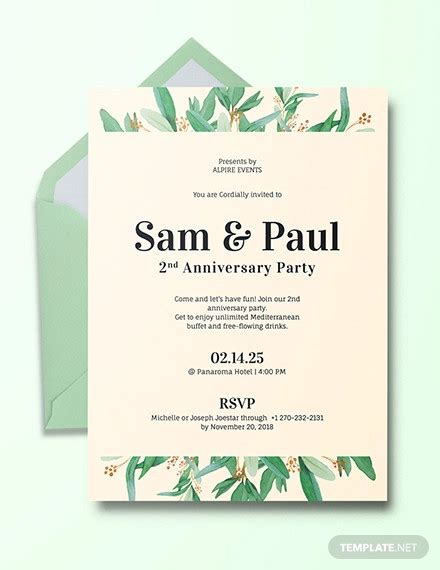 wedding anniversary cards ai word psd design