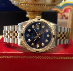 Mens Rolex Oyster Perpetual Datejust Diamonds Yellow Gold ...