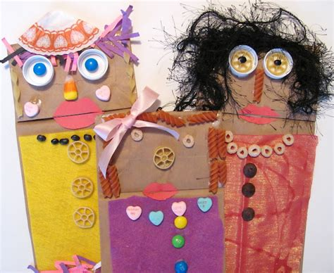 paper bag puppets inspired  fandango fun family crafts