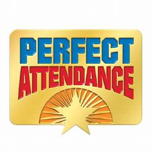 Perfect Attendance Starburst Design Lapel Pin | Positive ...