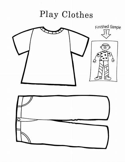 Coloring Clothes Pages Worksheets Summer Preschool Pre