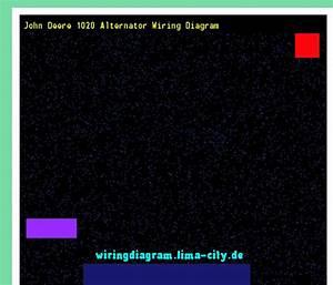 Diagram Wiring Johndeer1020alternator