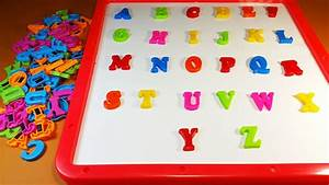 Abc phonics abcde magnetic alphabet games table board for Letter fridge magnets game