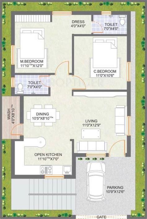 1500 sq ft home plans 1055 sq ft 2 bhk 2t villa for sale in praneeth pranav