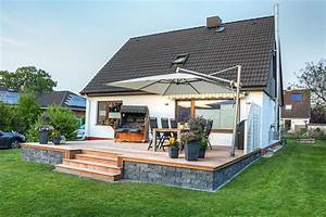 Holzbau klossek ihr fachmann fur terrassen und for Feuerstelle garten mit wintergarten mit balkon darüber kosten