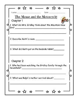 The Mouse and the Motorcycle Literature Guide - Aligned
