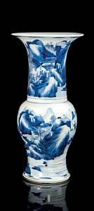 Grand Vase Blanc 1 Metre : grand vase en porcelaine bleu blanc chine dynastie qing poque kangxi 1622 1722 china ~ Teatrodelosmanantiales.com Idées de Décoration