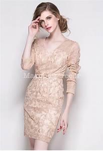 Robe De Mariée Champagne : robe fourreau broderie magnifique manches courtes ~ Preciouscoupons.com Idées de Décoration