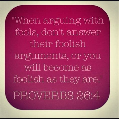 Scripture Argue Fool