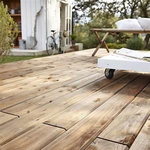 Planche De Bois Exterieur : planche bois douglas biseau marron x cm x ep ~ Premium-room.com Idées de Décoration