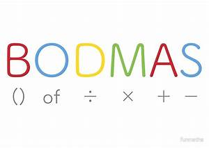"""BODMAS - Math Rules"" Posters by funmaths Redbubble"