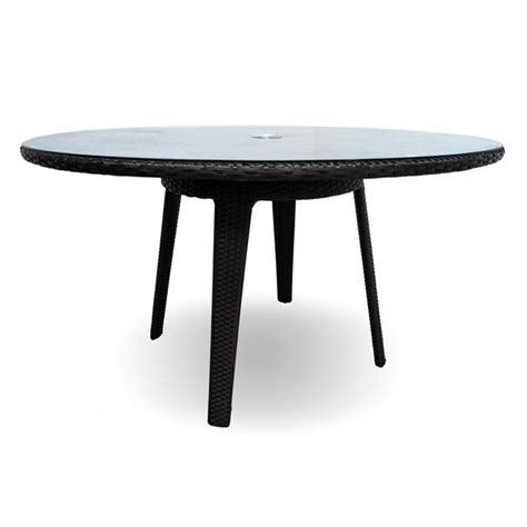 kannoa senna 60 quot dining table with tempered glass top