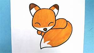 Comment Dessiner Un Renard Kawaii Dessin Facile Youtube