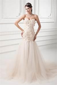 Robe De Mariée Champagne : fleurie robe de mari e en tulle champagne orn e de bijoux ~ Preciouscoupons.com Idées de Décoration