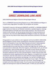 2002 2008 Renault M Eacute Gane Ii Electrical Wiring Diagram Manual