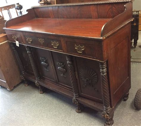 Antique Mahogany Sideboard Buffet by Antique Empire Mahogany Carved 4 Door Clawfoot Sideboard