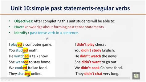 Simple Past Or Regular Verbs Ask