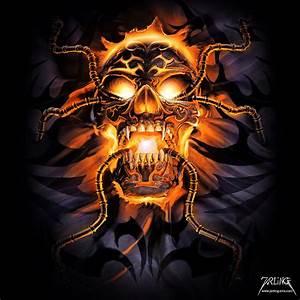 Glowing Skull by jarling-art on DeviantArt