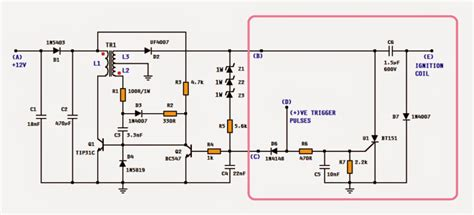dc cdi circuit for motorcycles