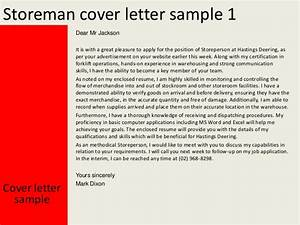 storeman cover letter With storeperson cover letter