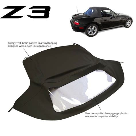 best car repair manuals 2002 bmw 745 spare parts catalogs bmw z3 1996 2002 convertible soft top replacement plastic window black twill ebay