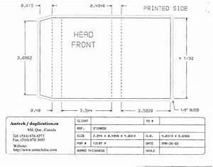 cassette insert print specs With cassette j card template