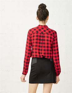 chemise a carreaux rouge et noir femme o jennyfer With chemise a carreaux femme rouge