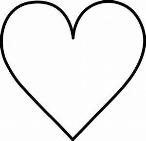 black and white heart outline