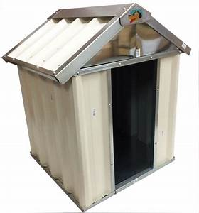 vebo outdoor metal dog kennel house small 60cm ebay With metal dog house