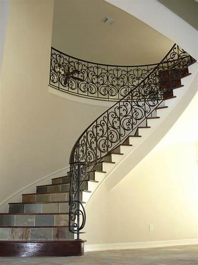 Panels Stair Staircase Custom Iron Wrought Railings