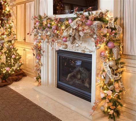mantle garland with lights 249 best decoration images on pinterest christmas