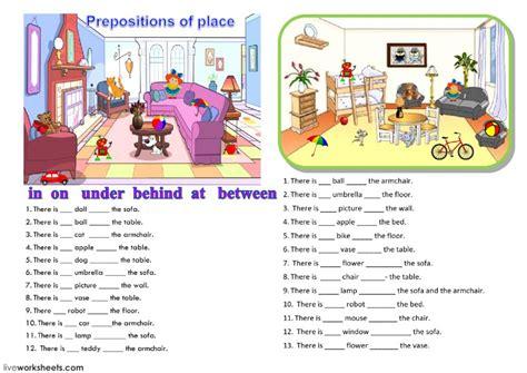 prepositions interactive worksheet