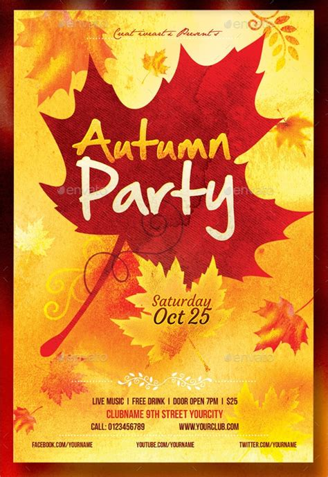 fall flyer templates  ms word ai psd eps