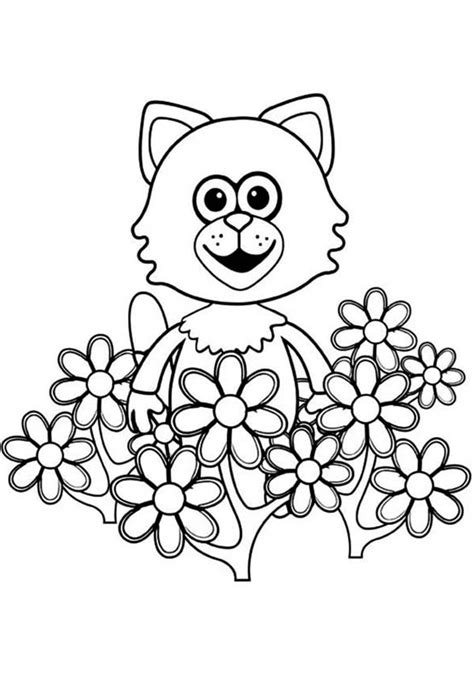 mittens hiding  beautiful flower  timmy time coloring page coloring sky