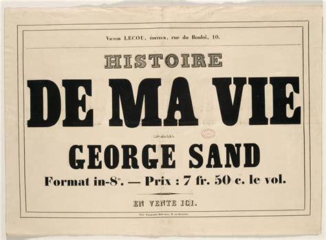 histoire de ma vie biographie george sand