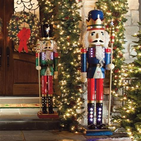 lighted nutcrackers frontgate christmas outdoor