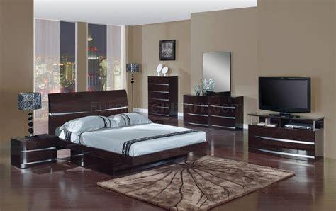 aurora bedroom set  wenge finish  global furniture