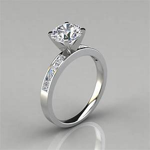 round cut channel set engagement ring puregemsjewels With round cut wedding ring sets